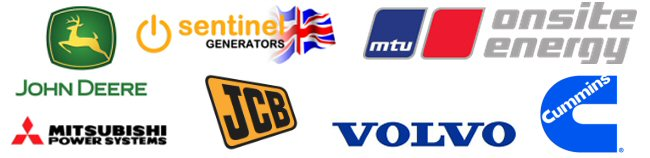Supported Brands - Diesel Generators - CAT - MTU - Sentinel - Olympian - Volvo - John Deer - Cummins
