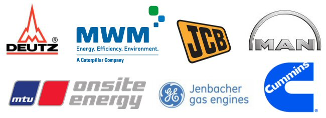 Supported Brands - Gas Generators - CAT - Jenbacher - MWM - MTU - Deutz - MAN